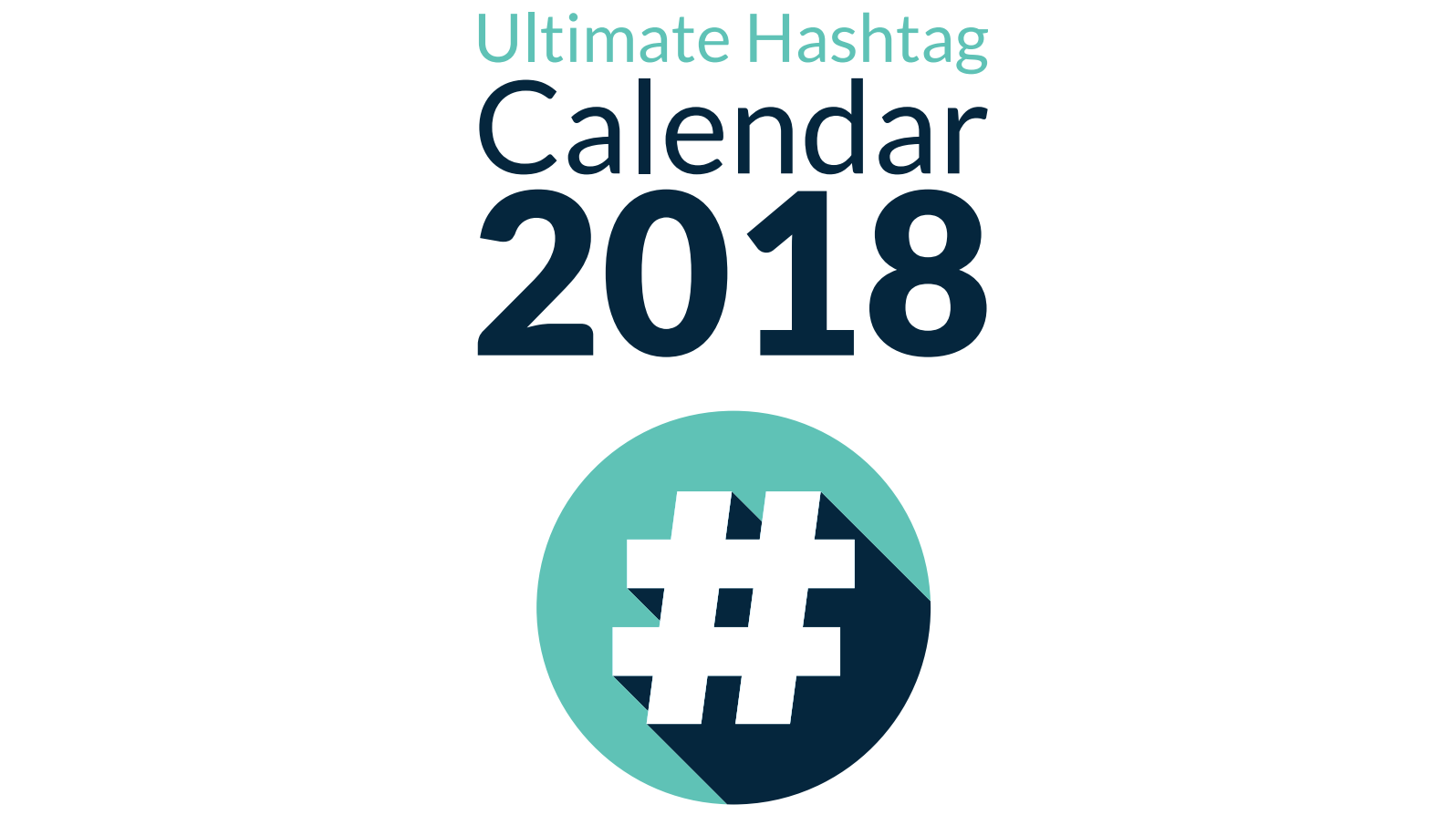 2018 social media hashtag calendar sparrow digital