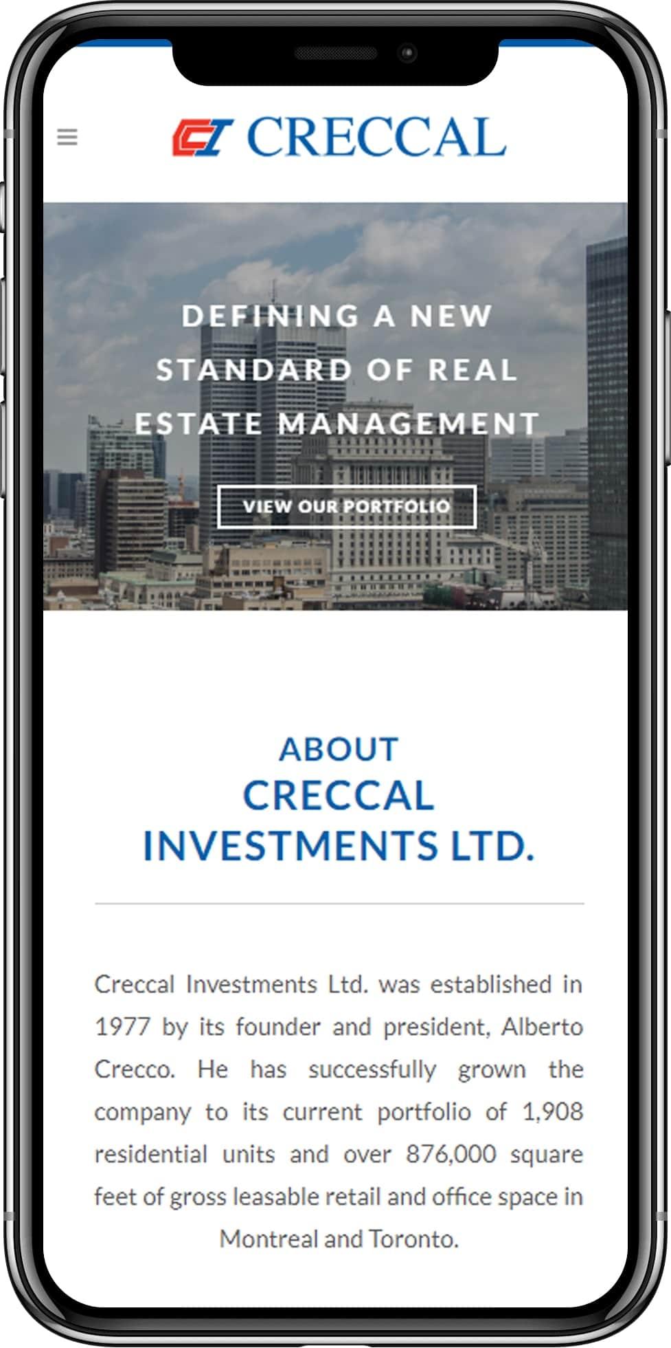 Creccal investments Montreal web design marketing